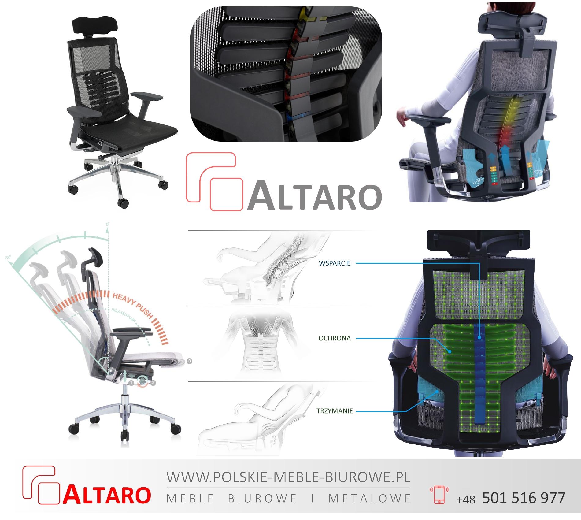krzesło ergonomiczne biurowe POFIT, promocja ALTARO
