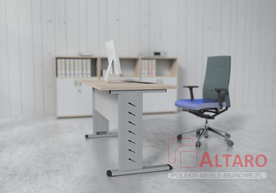 biurka na stelażu metalowym