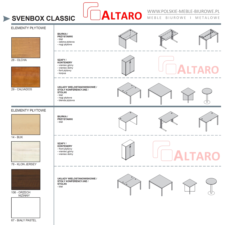 tanie meble biurowe ALTARO - kolory v1; wzornik