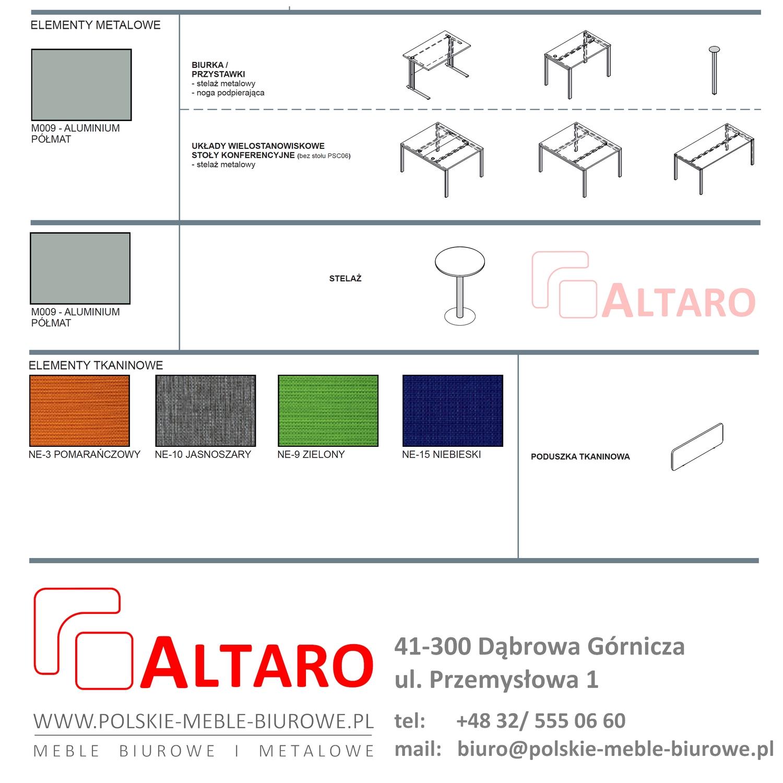 tanie meble biurowe ALTARO - kolory v3; wzornik