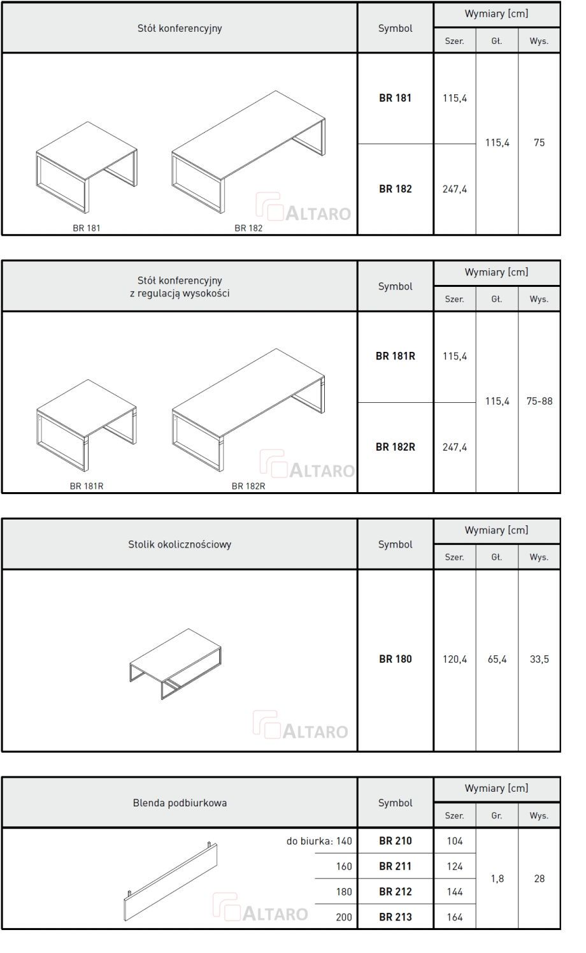 meble gabinetowe BRAND katalog v2 ALTARO