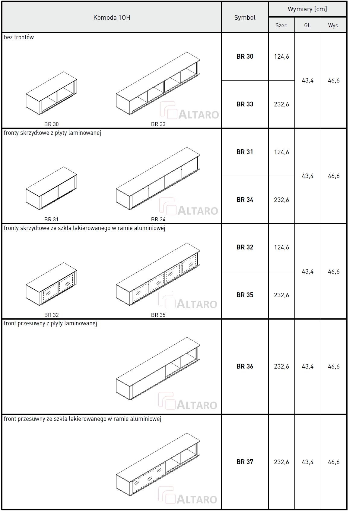 komody gabinetowe BRAND katalog v6 ALTARO