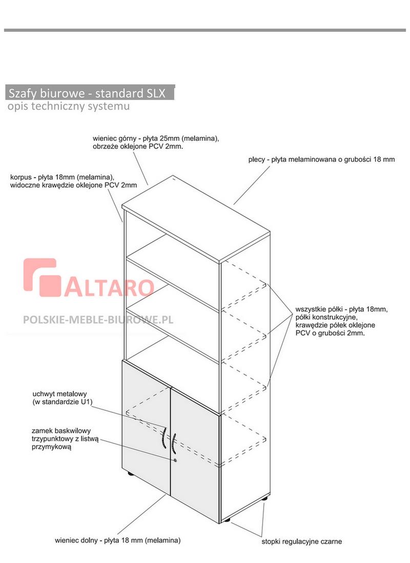 szafy biurowe standard SLX opis techniczny ALTARO