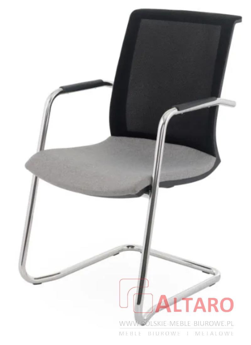 krzeslo konferencyjne level v ram z podłokietnikami