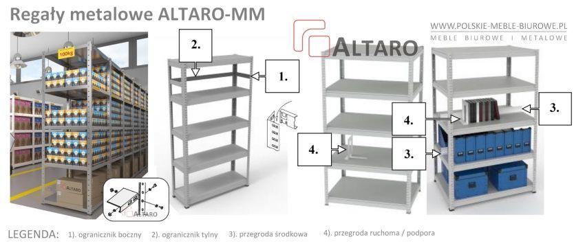 regały metalowe ALTARO MM