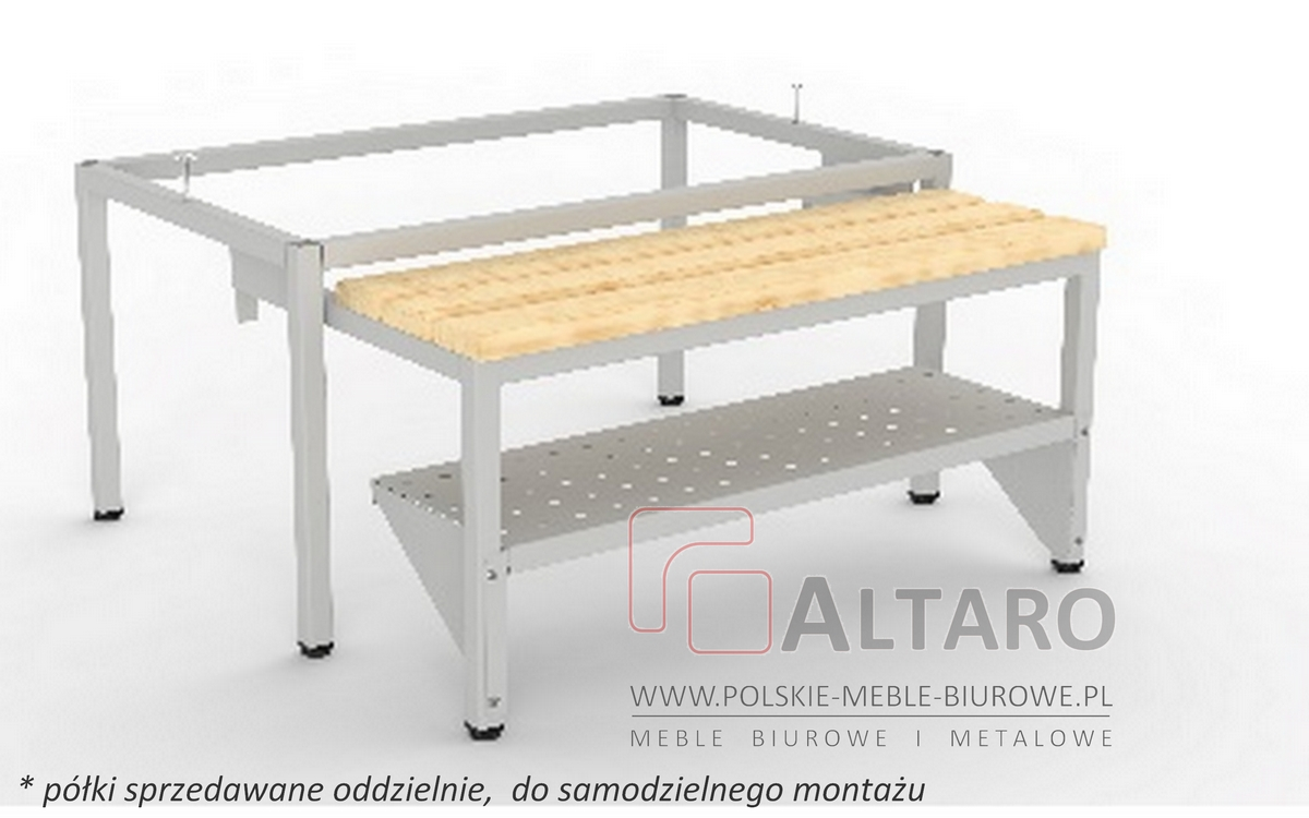 półka do podstawy wysuwanej do szafki metalowej bhp