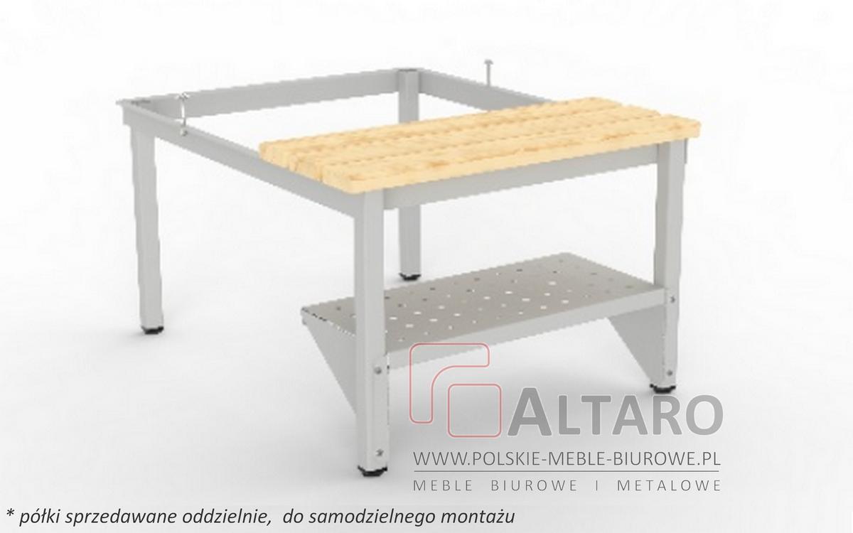 półka do podstawy z siedziskiem stałym do szafki metalowej bhp