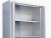 szafa metalowa biurowa 210 z drzwiami chowanymi - otwarta