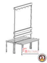 ławka szatniowa do szatni przebieralni korytarza socjalna BHP Altaro