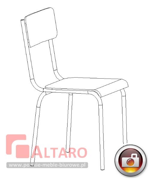 krzesło do jadalni  szatni krzesła socjalne jadalniane BHP Altaro