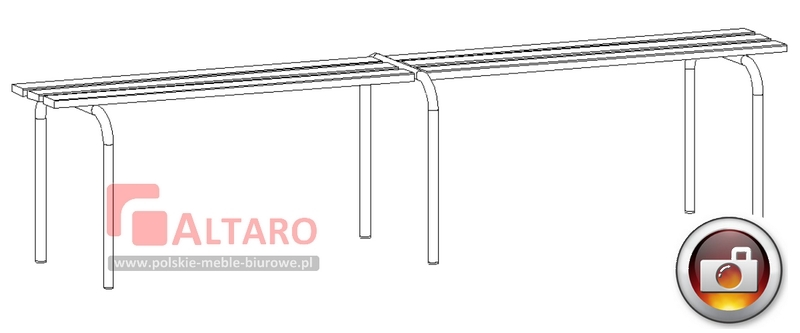ławki drewniane do szatni socjalne ławka BHP Altaro