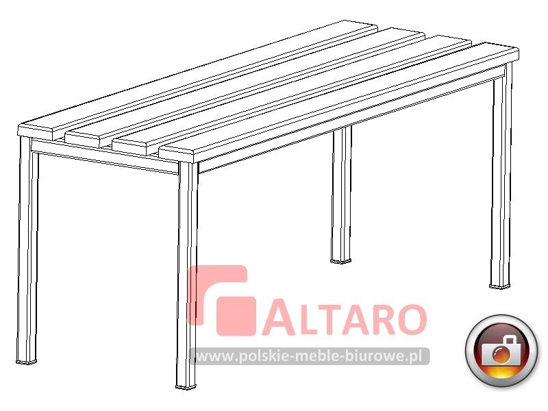 ławka metalowa do szatni socjalna na korytarz BHP Altaro
