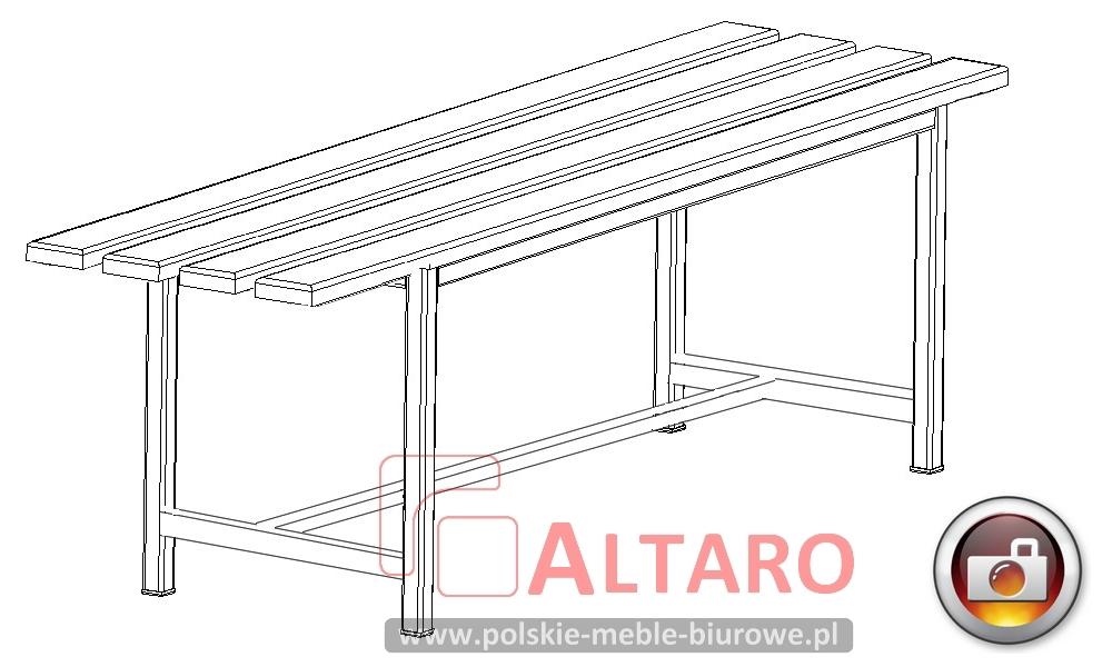 ławka do szatni socjalna  Altaro, ławka szatniowa