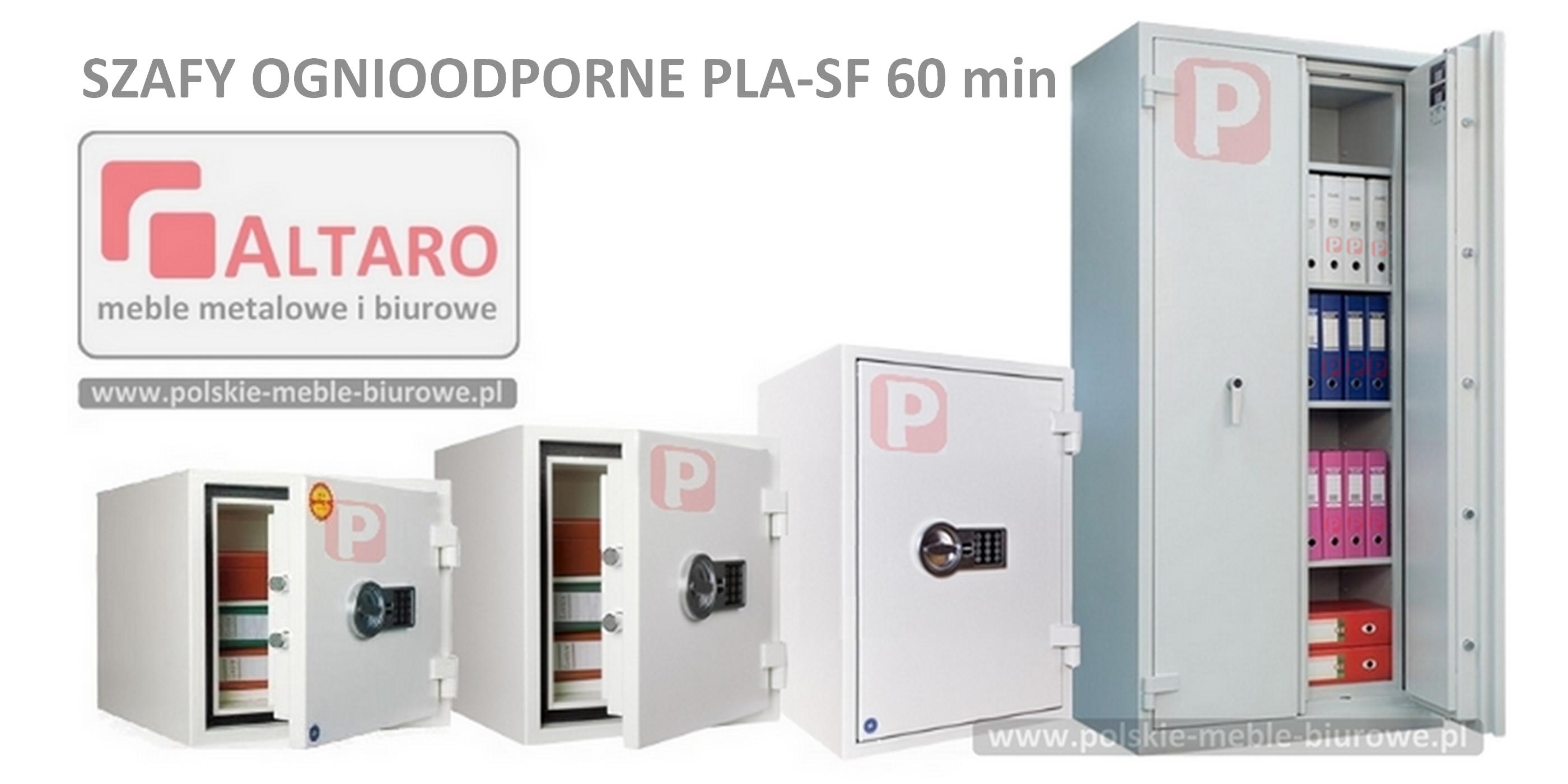 szafy ognioodporne PLA-SF 60 min metalowe ogniotrwałe