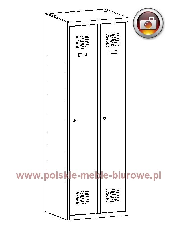 szafka ubraniowa bhp 320w metalowa