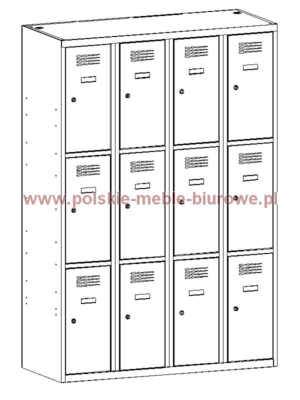 szafka metalowa skrytkowa