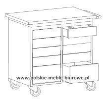 szafka warsztatowa na kółkach wózek