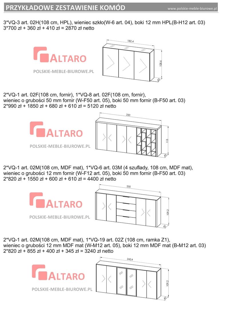 szafy i komody gabinetowe ALTARO - PRZYKŁADY
