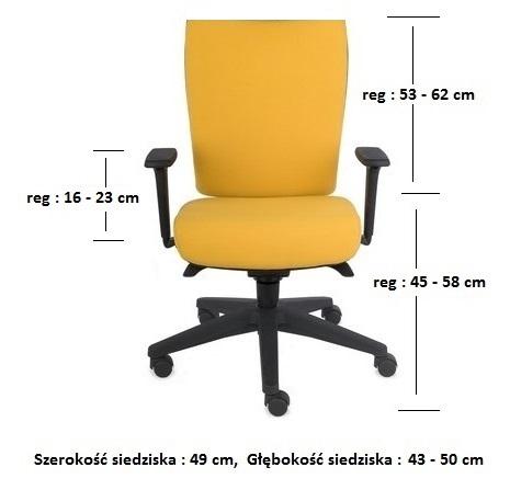 krzesło biurowe kim black wymiary