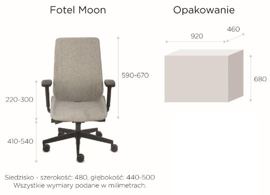 krzesło biurowe moon black wymiary