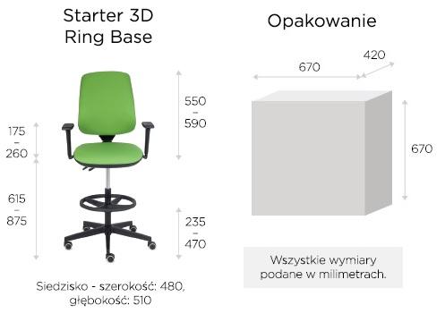 krzesło biurowe wymiary