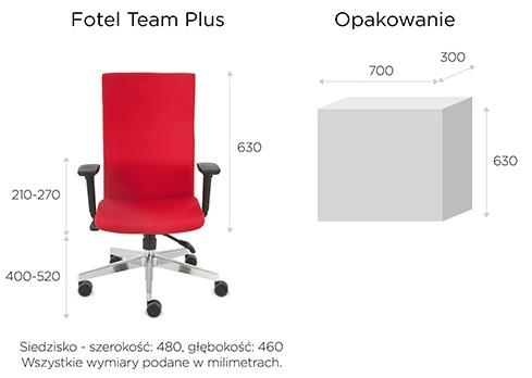 krzesło biurowe team plus wymiary