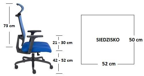 krzesło biurowe ERGOFIX - wymiry