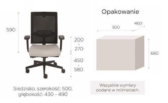 krzesło biurowe LEVEL BS black wymiary