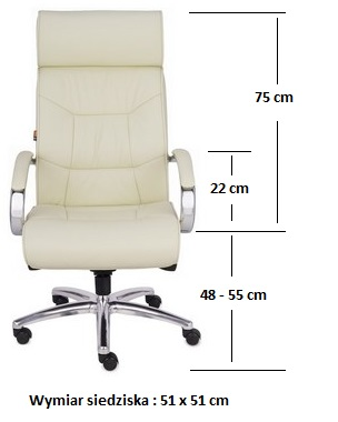 fotel gabinetowy supreme wymiary