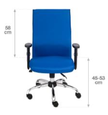 krzesło biurowe team wymiary