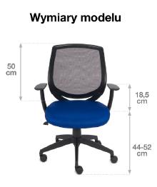 krzesło biurowe Fit- wymiry