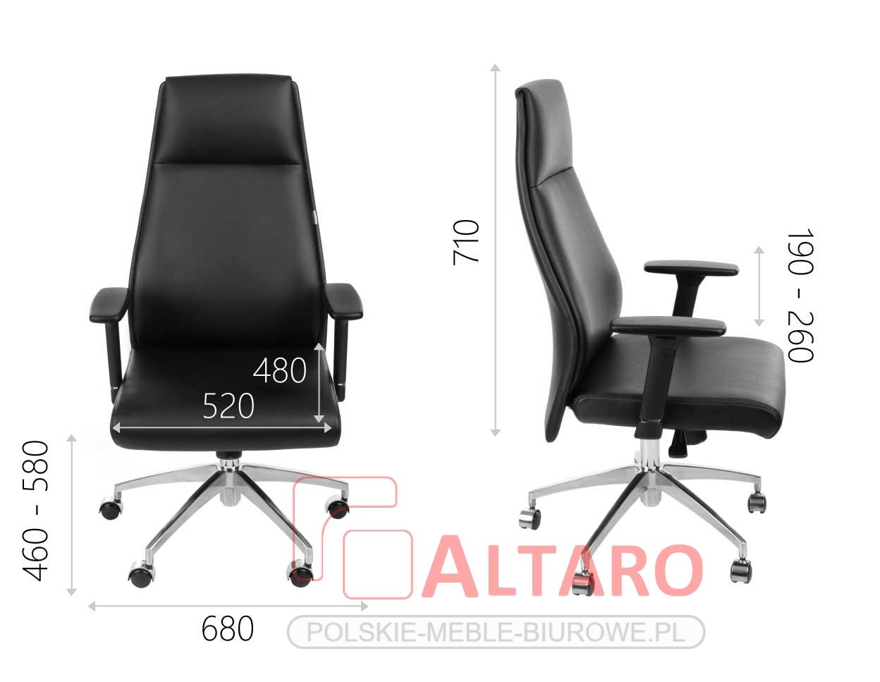 fotel gabinetowy modo wymiary