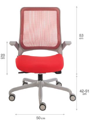 krzesło biurowe Free- wymiry