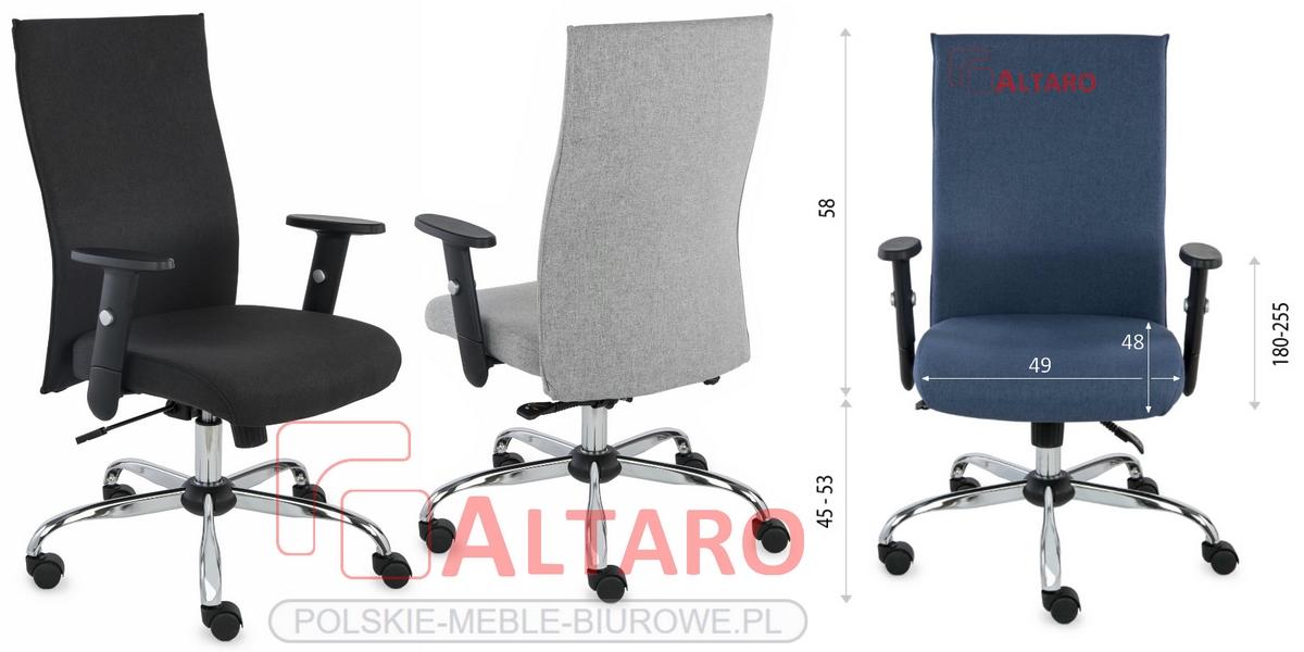 krzesło biurowe team 24 wymiary