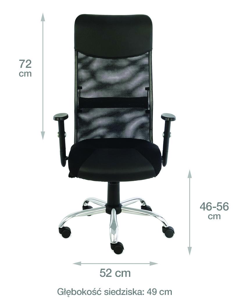 krzesło biurowe plus r wymiary